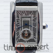 Cartier Tank Turbillon Steel-Gray