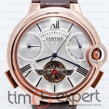 Cartier Ballon Turbillon Gold-Write-Brown