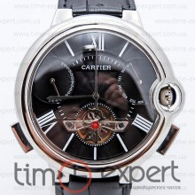 Cartier Ballon Turbillon Steel-Black