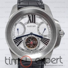 Cartier Calibre De Cartier Diver Turbillon Silver-Write