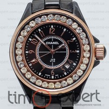 Chanel J12 Gold-Black Diamond