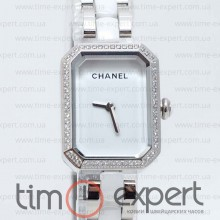 Chanel Ceramica Diamond Silver-Write