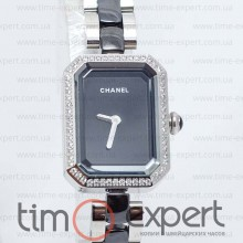 Chanel Ceramica Diamond Silver-Black