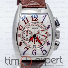 Franck Muller Cintree Curvex Steel-Write-Brown