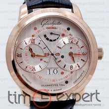 Glashutte Senator Automatic GMT Gold-Write