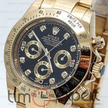 Rolex Cosmograph Daytona Gold-Black Diamond