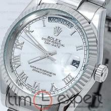Rolex Oyster Perpetual 36 Day-Date Silver-Blue Rim