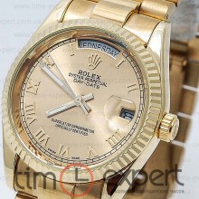 Rolex Oyster Perpetual 36 Day-Date Gold-Rim