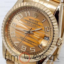 Rolex DateJust Gold Arab Miyota
