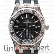 Audemars Piguet Ladies Royal Oak Diamonds Steel-Black