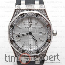 Audemars Piguet Ladies Royal Oak Diamonds Steel-Write