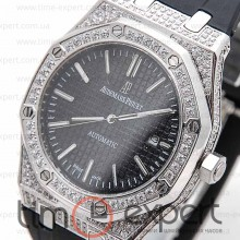 Audemars Piguet (Механика) Royal Oak Diamonds Steel-Black
