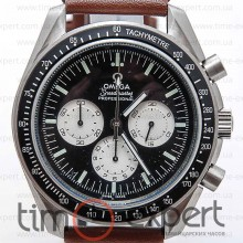 Omega Speedmaster Chronograph Steel-Black-Brown