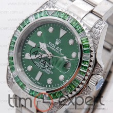 Rolex Submariner (40) Diamond-Green