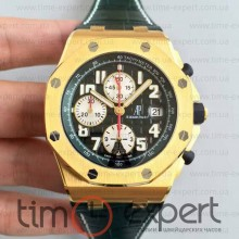 Audemars Piguet Royal Oak Chronograph Black-Green Yellow Gold
