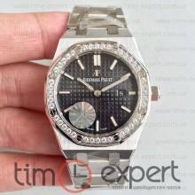 Audemars Piguet (33mm) Royal Oak Bracelet Steel-Black Diamond