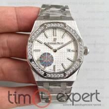 Audemars Piguet (33mm) Royal Oak Bracelet Steel-Write Diamond