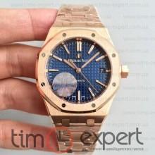 Audemars Piguet (37mm) Bracelet Royal Oak Gold-Blue 3120
