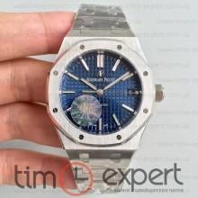 Audemars Piguet (37mm) Bracelet Royal Oak Silver-Blue 3120