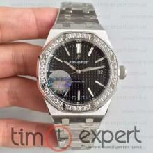 Audemars Piguet (37mm) Bracelet Royal Oak Silver-Black 3120