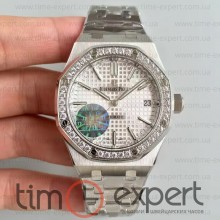 Audemars Piguet (37mm) Bracelet Royal Oak Steel-Write Diamond 3120