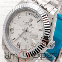 Rolex Oyster Perpetual 36 Day-Date Silver-Write