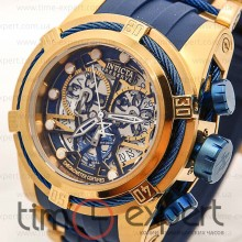 Invicta Chronograph Gold-Blue