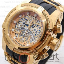 Invicta Chronograph Gold-Black