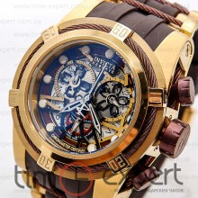 Invicta Chronograph Gold-Chocolate