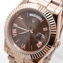 Rolex Day-Date 41 Rose-Gold-Chocolate