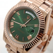 Rolex Day-Date 41 Rose-Gold-Green