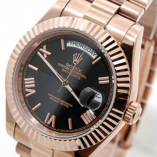 Rolex Day-Date 41 Rose-Gold-Black