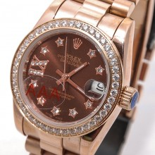 Rolex  Datejust Gold-Diamond-Chocolate
