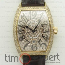 Franck Muller Casablanca 8880 Automatique Best Diamonds on Brown