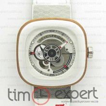 SevenFriday P1B/03 1:1 Best Edition White Leather Strap