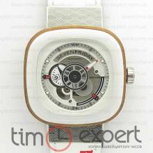 SevenFriday P1B/03 1:1 Best Edition White Leather Strap