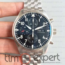 Iwc Pilot Chronograph Steel-Black