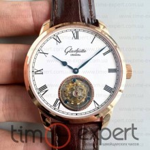 Glashutte Original Senator Meissen Tourbillon Brown-Gold