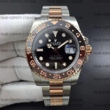 Rolex GMT-MASTER II Rose-Gold-Black/Red