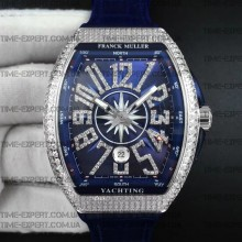 Franck Muller Vanguard Full Diamonds Blue