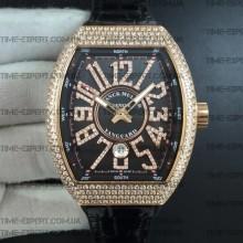 Franck Muller Vanguard Full Diamonds Gold-Black
