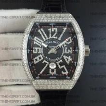 Franck Muller Vanguard Full Diamonds Steel-Black