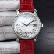 Chopard Happy Sport Automatic 36mm Steel-Cherry