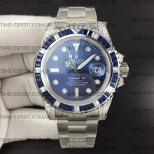Rolex Submariner White Diamonds Blue