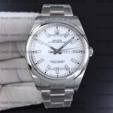 Rolex Oyster Perpetual White 39mm 114300