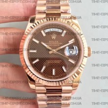 Rolex Day-Date 40 228235 Rose Brown Dial