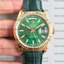Rolex Day-Date II 118138 Green Yellow Gold