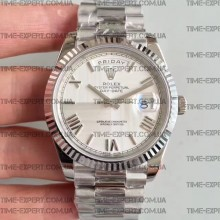 Rolex Day-Date 40 228239 Textured Silver Dial