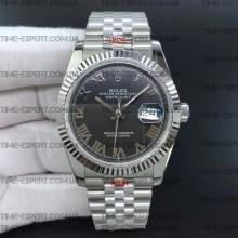 Rolex DateJust 36 126234 Black Dial Roman Markers