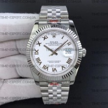 Rolex DateJust 36 126234 Steel White Dial Roman Markers